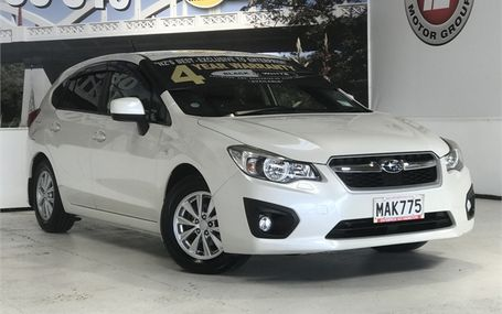 2012 Subaru Impreza 1.6 I-L FREE ON ROAD COSTS Test Drive Form