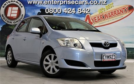 2009 Toyota Corolla GX NZ NEW Test Drive Form