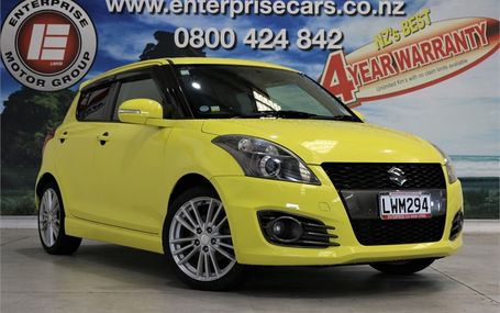 2012 Suzuki Swift SPORTS FUNKY COLOUR Test Drive Form