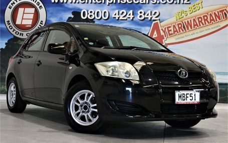 2008 Toyota Auris 150X FREE ON ROAD COSTS Test Drive Form
