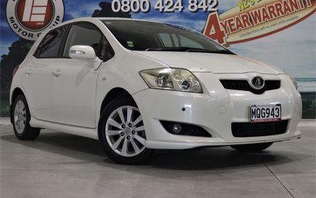 2009 Toyota Auris S PACK 39,000 KMS Test Drive Form