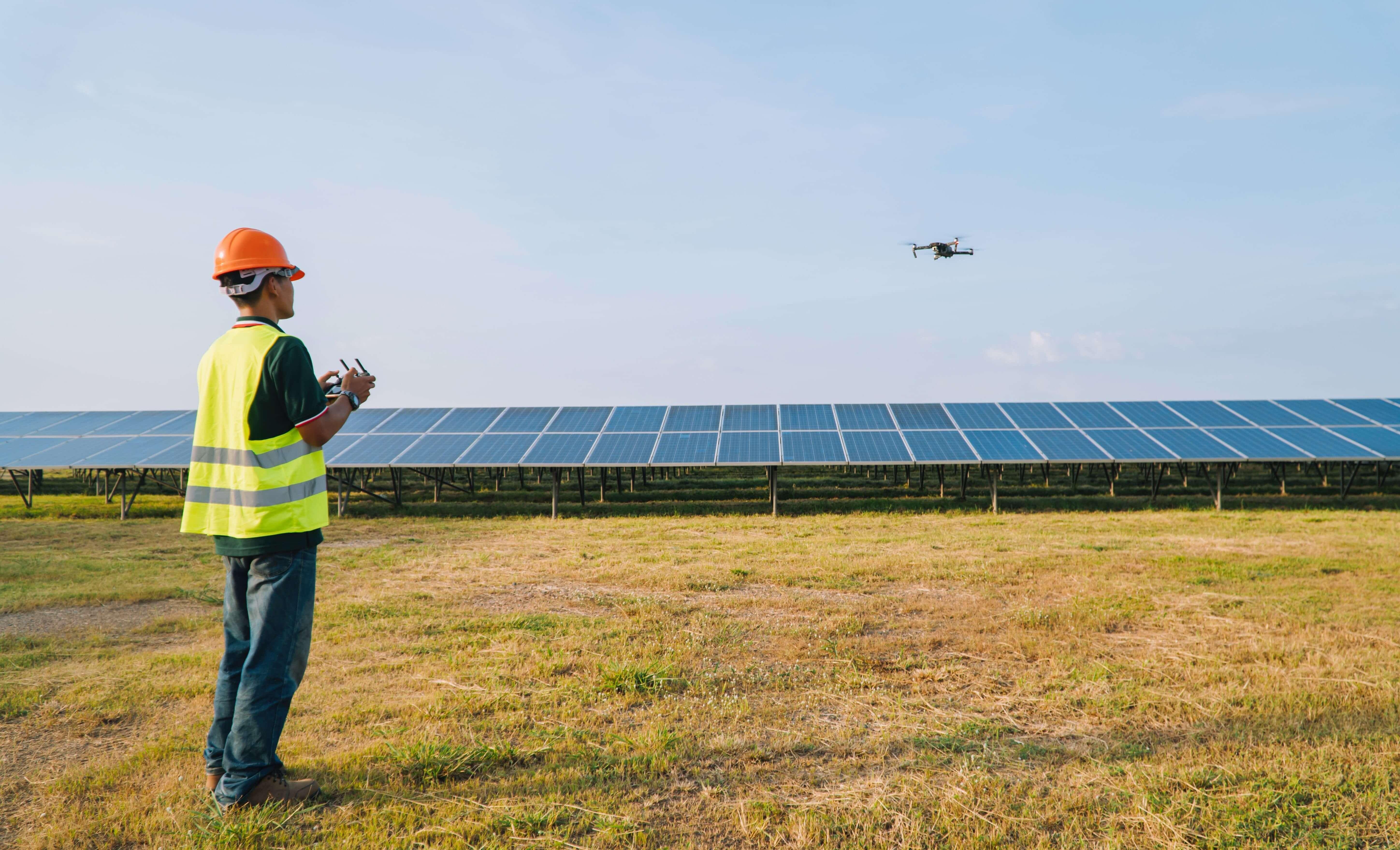 Solar panel inspection, solar farm, photovoltaic,drone technology, drone survey