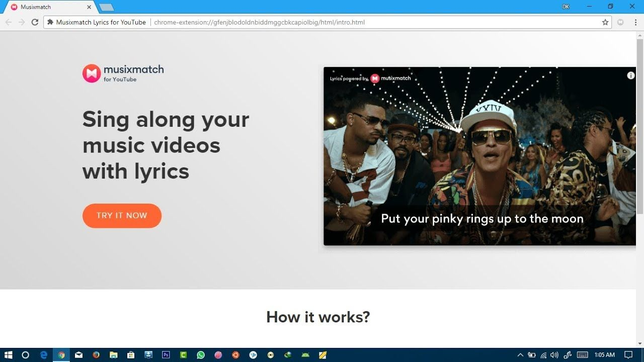 musixmatch for youtube