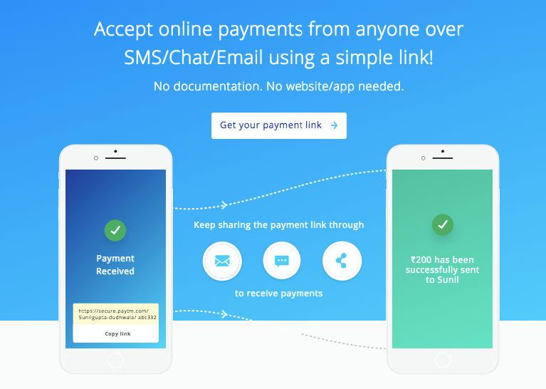 Paytm payment link setup