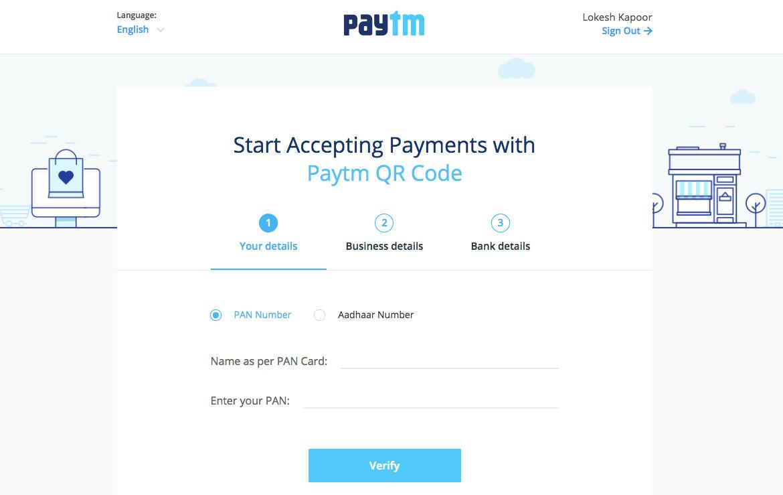 paytm qr code receive payments