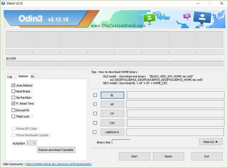 Download Odin Flash Tool and Install on Windows
