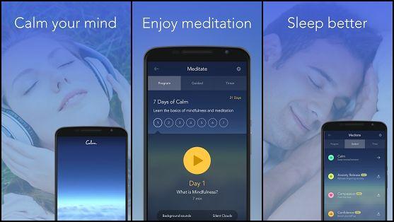 best meditations apps Calm Meditate Sleep Relax