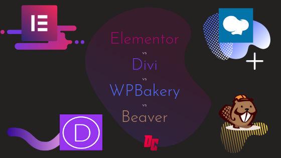 Elementor vs Divi vs WPBakery vs Beaver