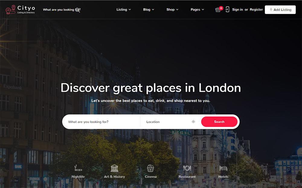 Cityo Listing WordPress Theme