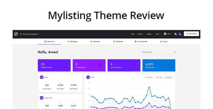 Mylisting WordPress theme Review and Ratings