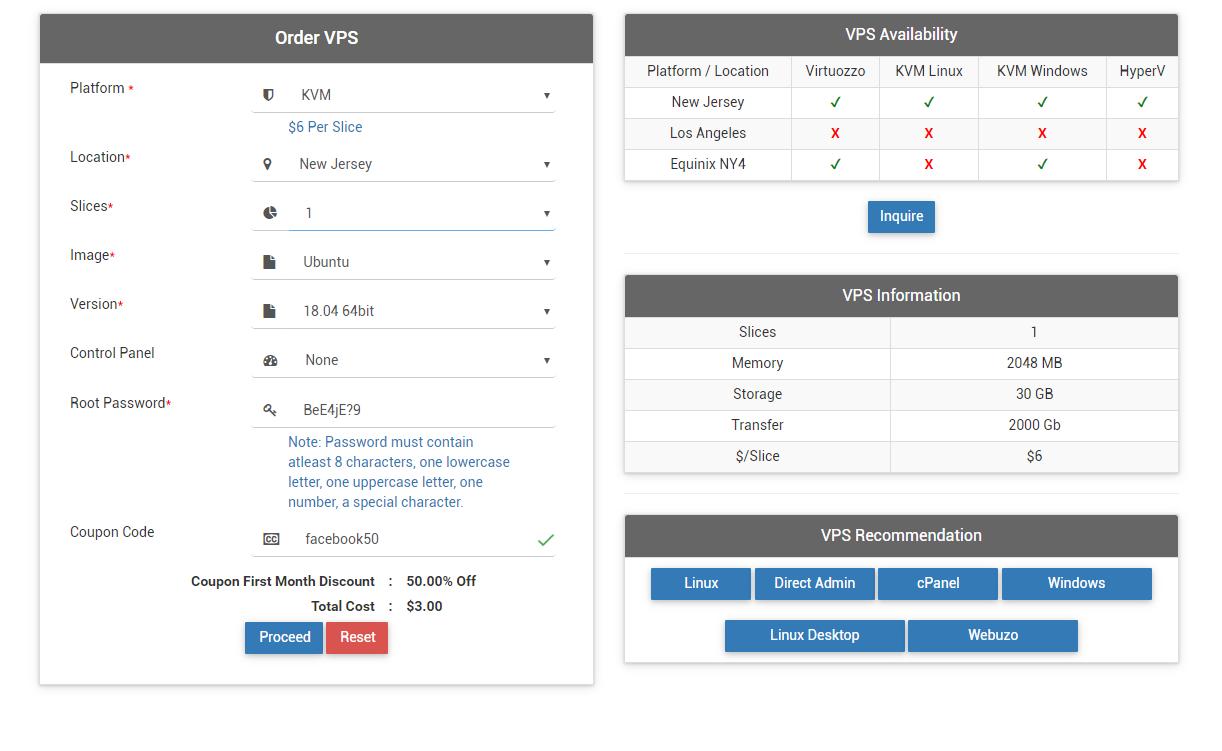 VPS Server on Interserver