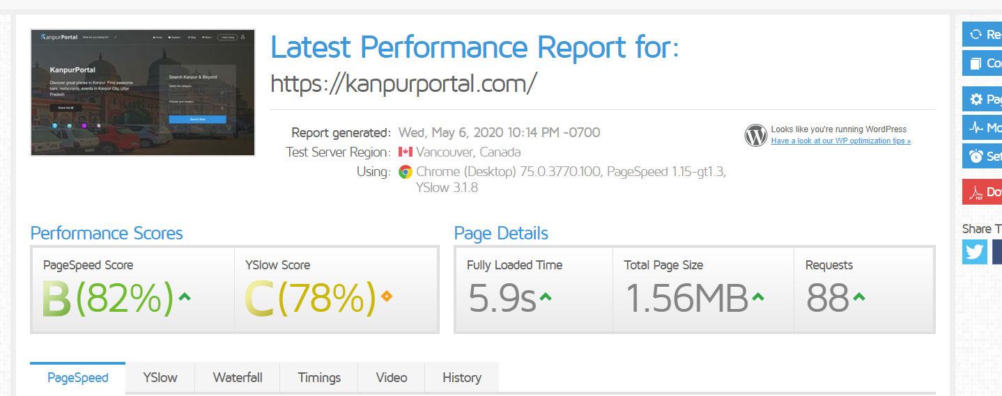 Website Speed on Interserver