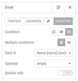 conditional logic form with elementor