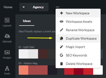 Duplicate Workspace in Relaythat