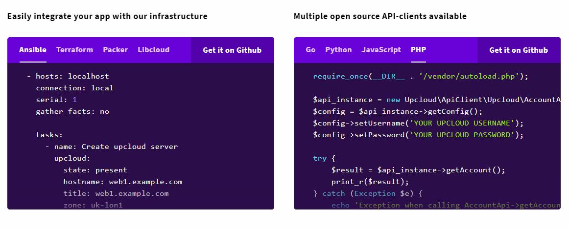 Upcloud Designed for Developers