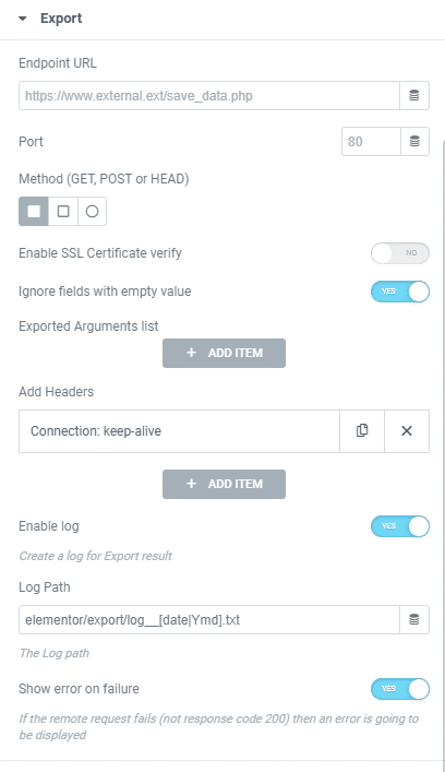 Export Data in Elementor Form with Dynamic.ooo