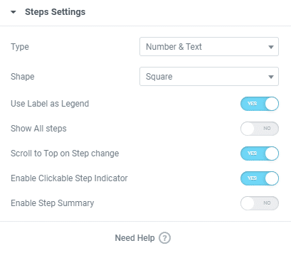 Multistep Form with Dynamic Content for Elementor