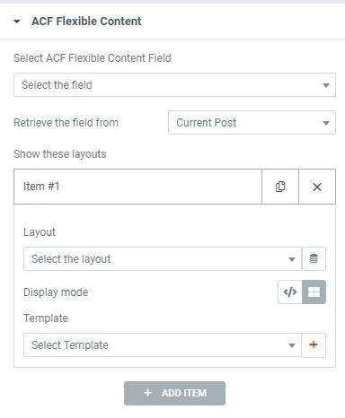 ACF Flexible Widget Dynamic Conent