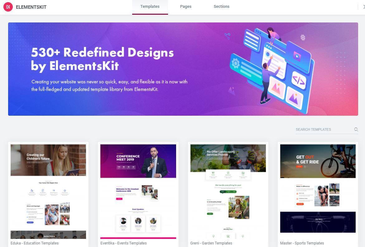 Elementskit Designs Library