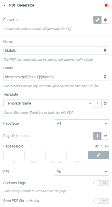 PDF Generator Dynamic Content for Elementor