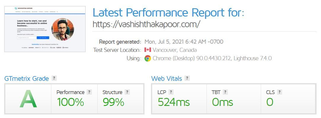 Elementor Page Performance