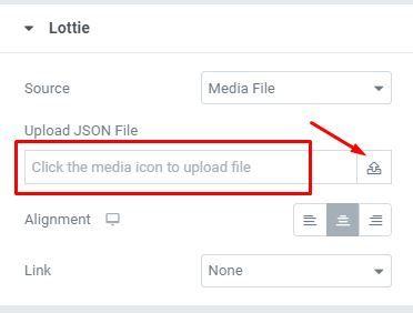 Using Lottie Animation in Elementor Lottie widget
