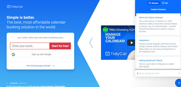 TidyCal Online Booking Solution