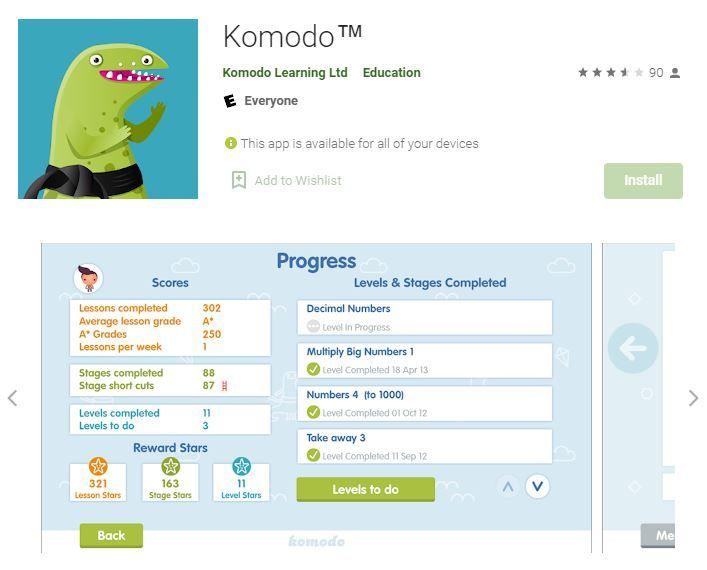 Komodo Math Solving App Android