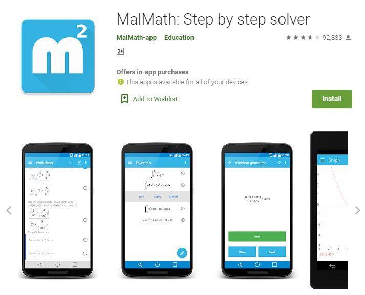 Math Solver App - Malmath Step by Step Solver