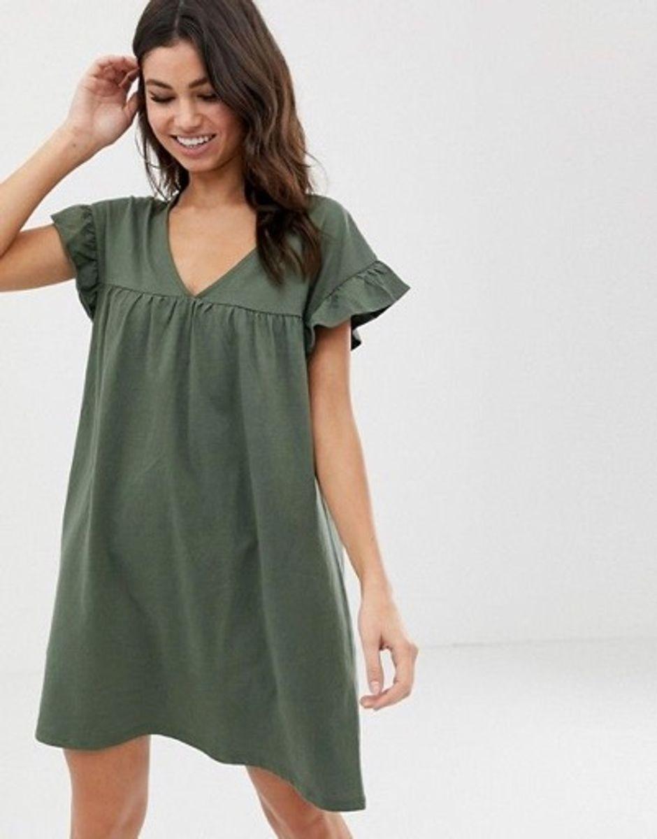 ASOS Reversable Olive Mini Dress