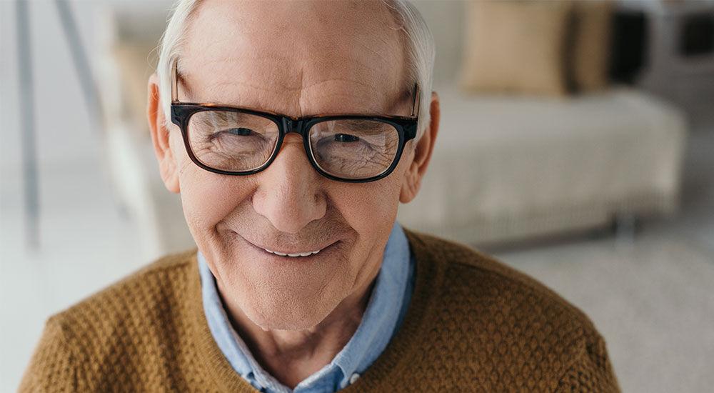Image of an older man smiling