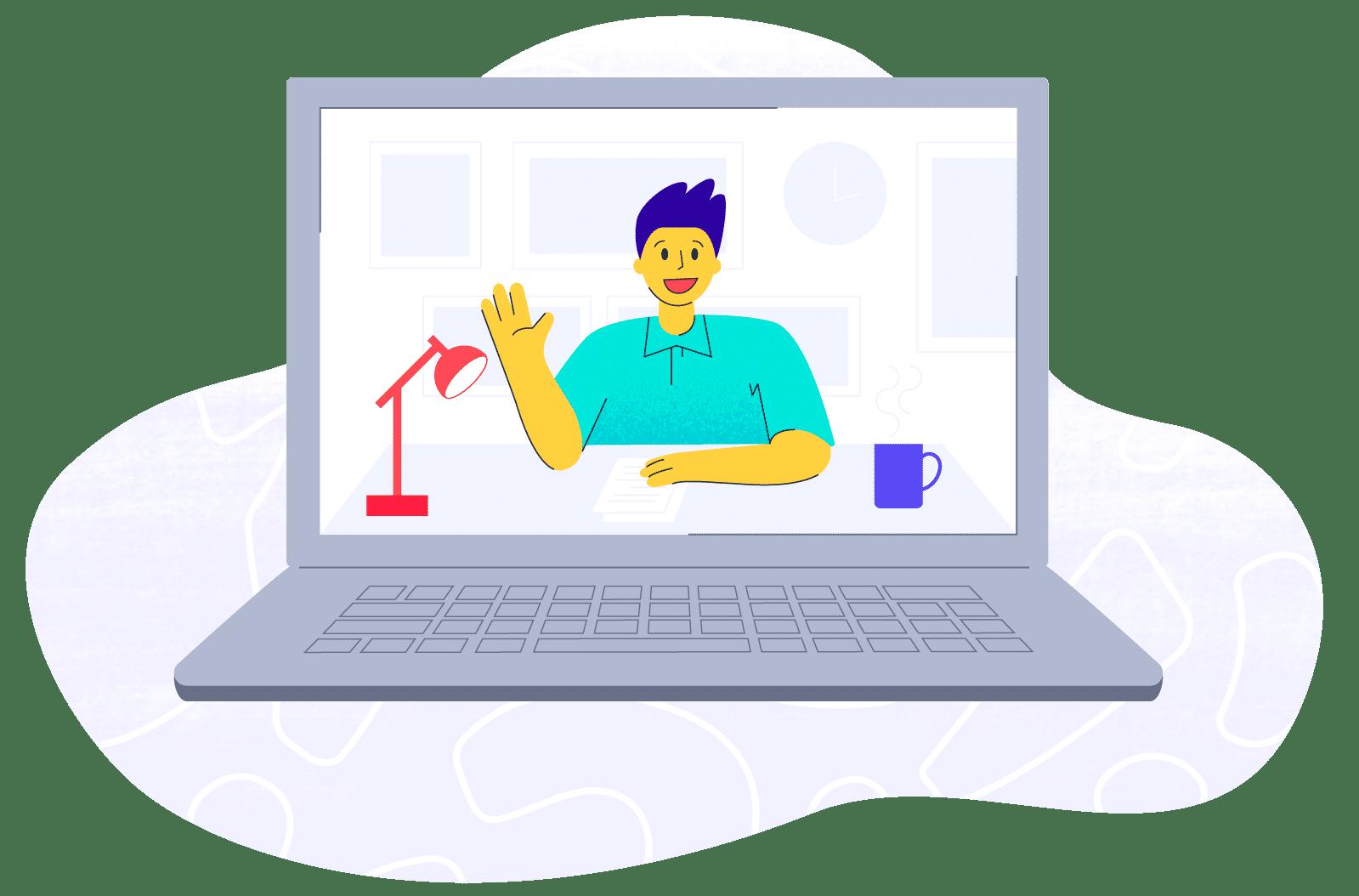 Therapist on virtual session