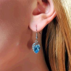 Blue Crystal Long Earring-03