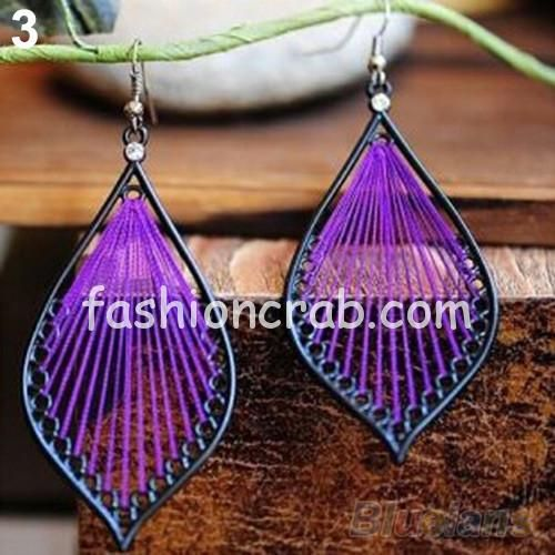 Fashion Cute Handcraft Thread Dangle Earrings