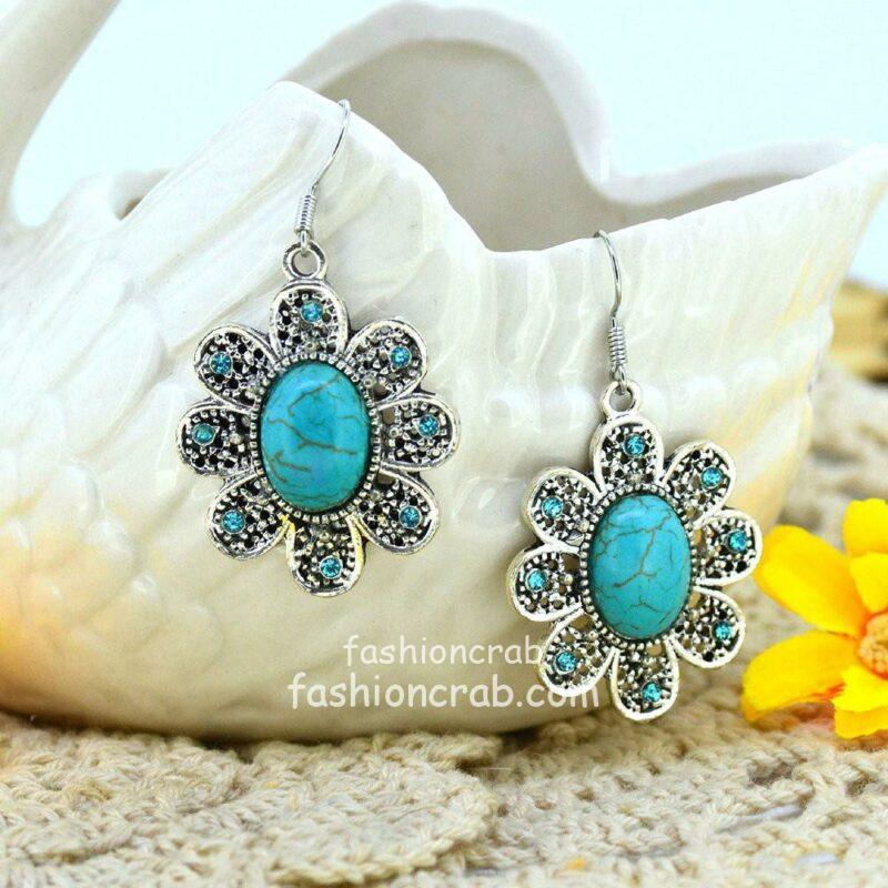Flower Drop Earrings For Women-02