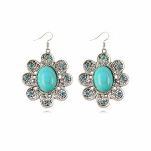 Flower Drop Earrings For Women
