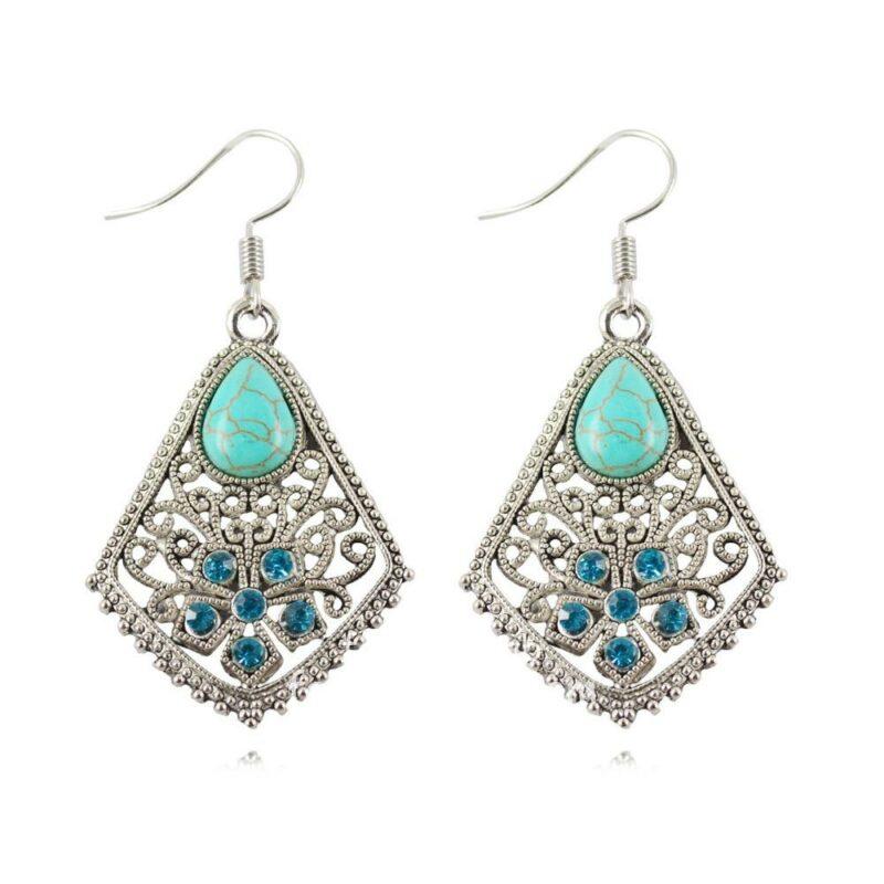 Waterdrop Shape Turquoise Women Earrings