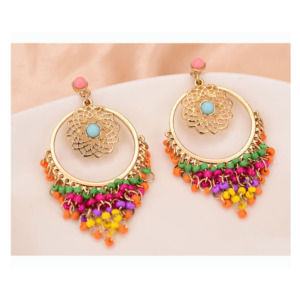 Colorful Rhinestone Drop Earrings for Women