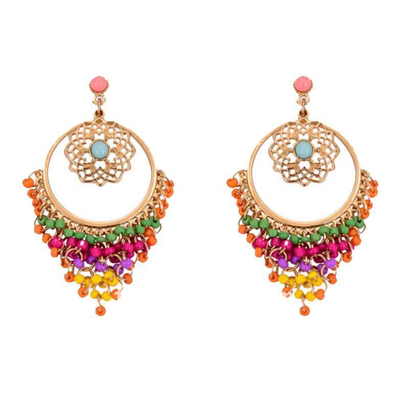 Colorful Rhinestone Drop Earrings for Women