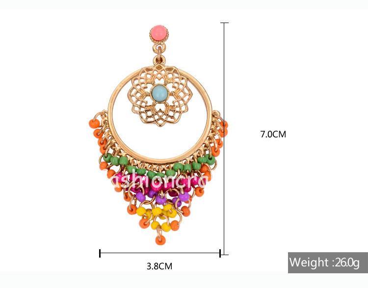 Colorful Rhinestone Drop Earrings