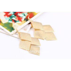 Golden Long Tassel Drop Earrings for Women