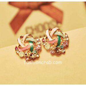 Multicolor Stud Earrings for Women
