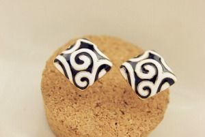 Zebra brincos black earrings-02