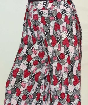 Red and Pink Palazzo for Women