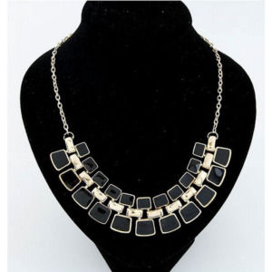 Black Golden Necklace for Women