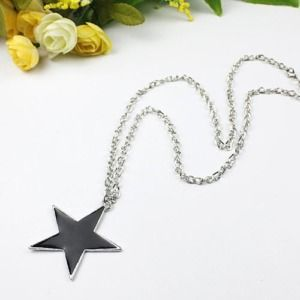 Elegant black star pentagram necklace