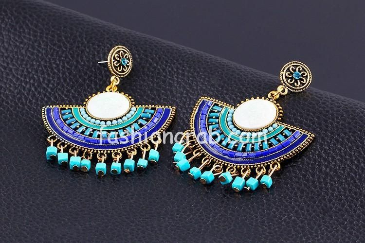 Flower Pendant Drop Earrings For Women