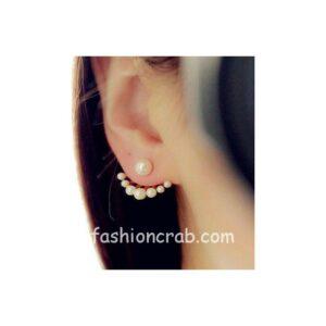 Little Pearls Neckband Stud Earrings For Women