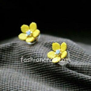 Cute Yellow Flower Stud Earring for Women