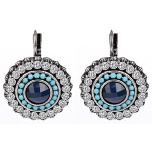 Austrian Crystals Fashion Jewelry Blue Clip Earrings for Women